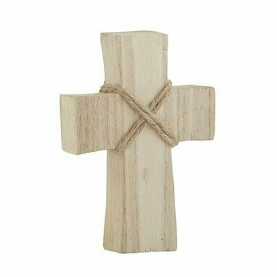 Small Standing Cross - Natural