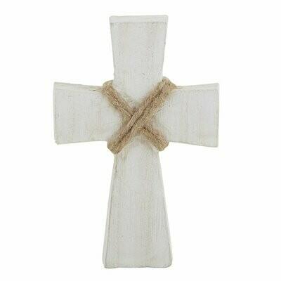 Small Standing Cross - White