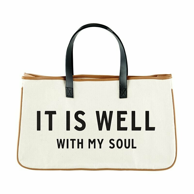 It is well canvas tote