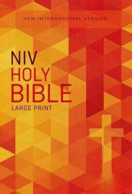 NIV Paperback Bible orange cross