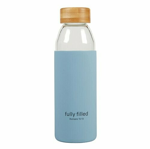 Fully Filled Glass Water Bottle