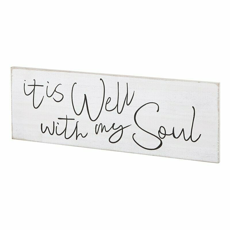 It Is Well Wall Plaque