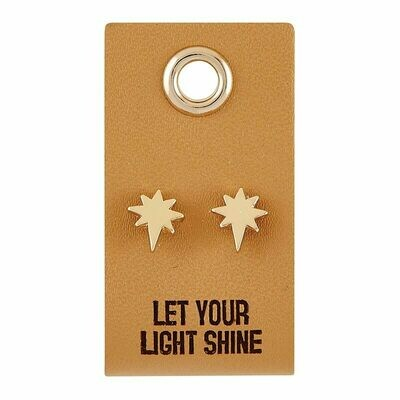Leather Tag Light Earrings