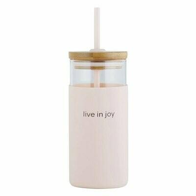 Live in Joy Glass Tumbler