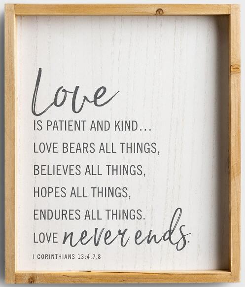 Love- Wood Frame Wall Art