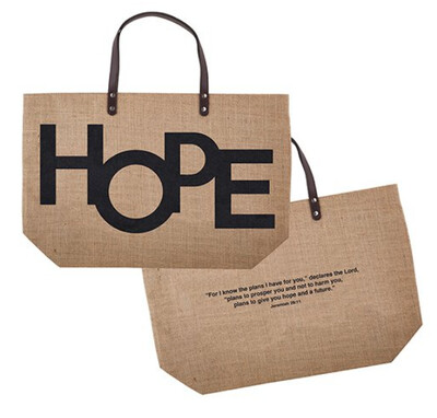 Hope- Jute Tote Bag