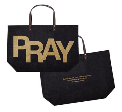 Pray- Jute Tote Bag