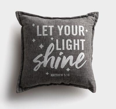 Let Your Light Shine pillow