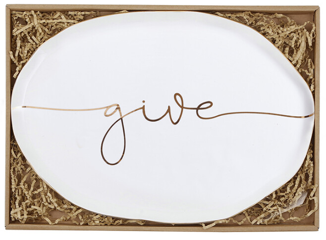 Ceramic Giving Plate