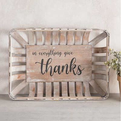 In Everything Give Thanks Basket