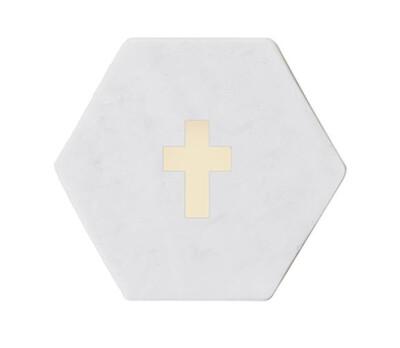 Cross Marble Coaster