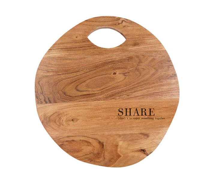 Share Wood Block