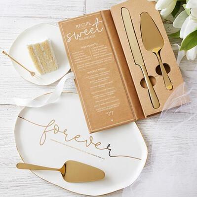 Wedding Cake Serving Set