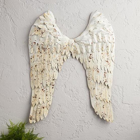 Rustic Angel Wings Wall Decor
