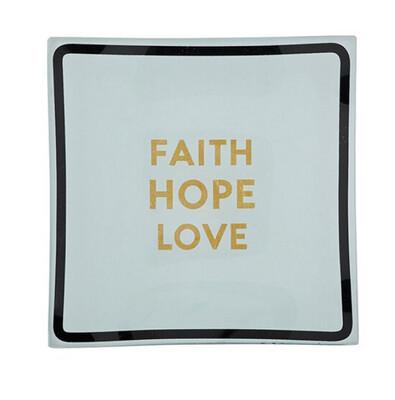 Faith Hope Love Trinket Tray