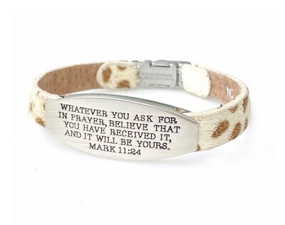 Safari Bible Verse Bracelet