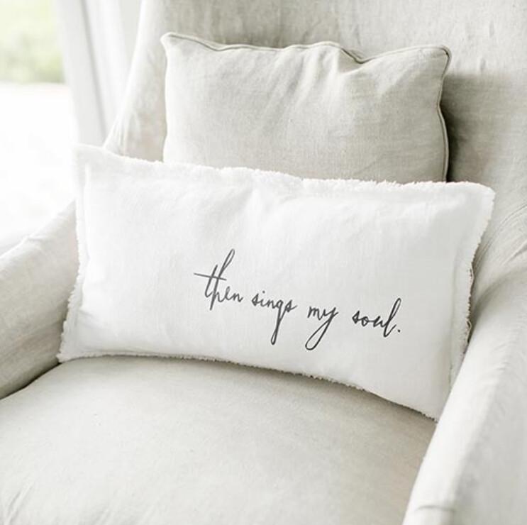 Then Sings My Soul Luxe Lumbar Pillow