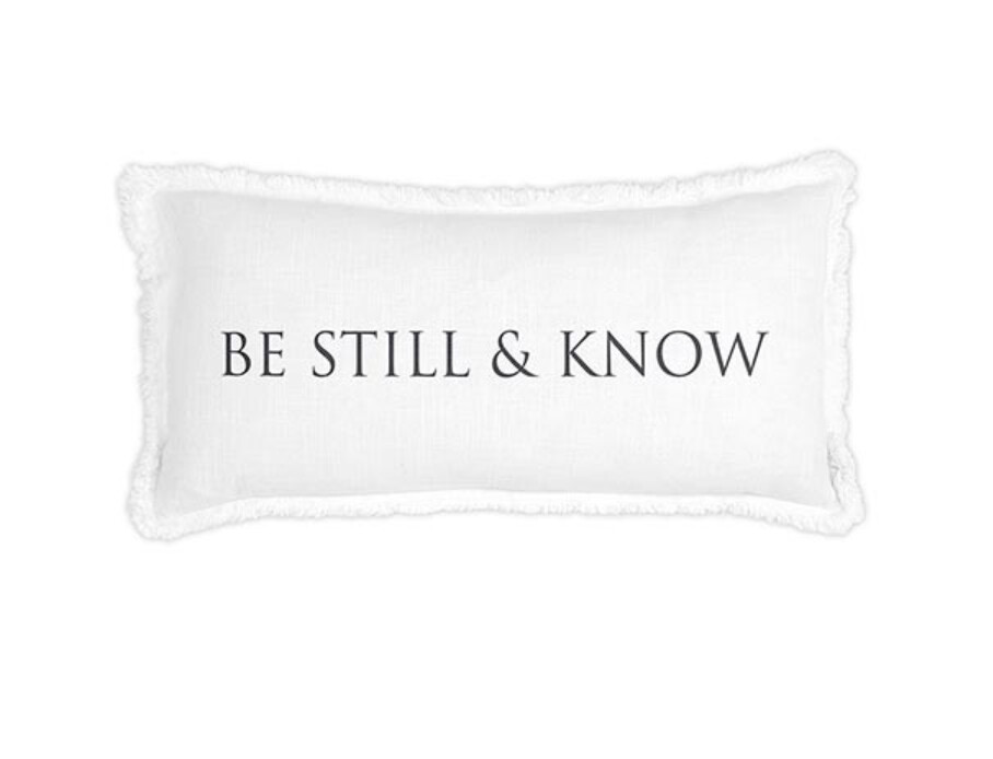 Be Still and Know Luxe Lumbar Pillow