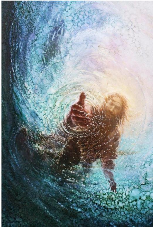 Hand of God Canvas Print