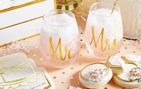 Mr. and Mrs. Glass Set