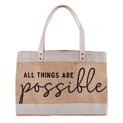 All Things Are Possible Market Tote