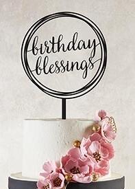 Cake Topper Birthday Blessings