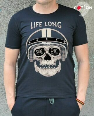 LifeLong Skull Print Cotton T-shirt