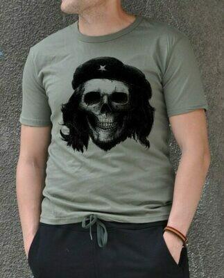 Che Guevara Skull Print Cotton T-shirt