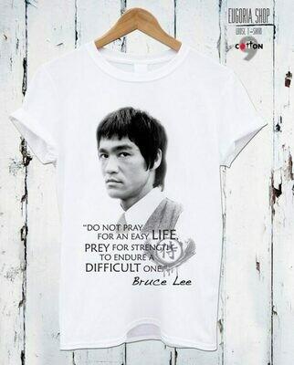 Bruce Lee Quote Print Cotton T-Shirt
