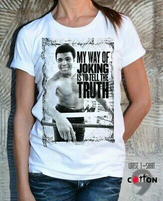 Muhammad Joking Truth Print Cotton T-Shirt