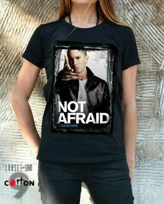 Not Afraid Eminem Print Cotton T-shirt
