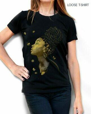 Golden Girl Painted Cotton T-shirt