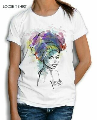 African Woman With Turban Cotton T-shirt