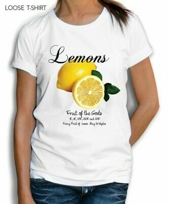 Painted Lemons Text Print Fashion T shirt