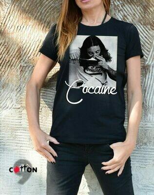 Cocaine Print Cotton T-Shirt