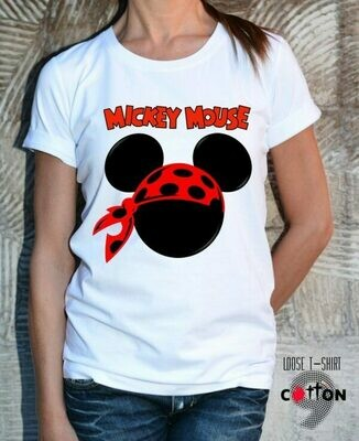 Mickey Mouse Pirate Print T-shirt