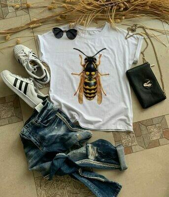 Wasp White Women T shirt