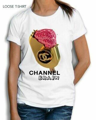 Brain Ice Cream Print Cotton T-Shirt