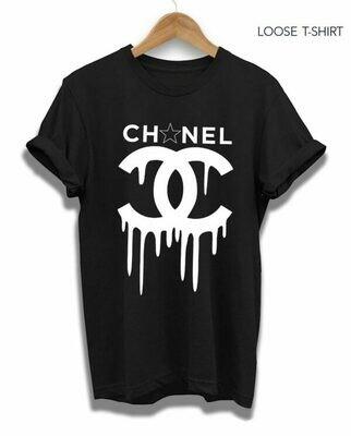 Running down Chanel Print Cotton T-shirt