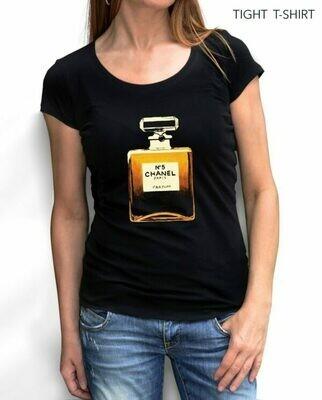Golden Paris Chanel Perfume Cotton T-Shirt