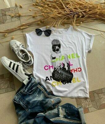 Chanel Fashion Woman Print Cotton T-shirt