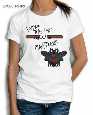 Gucci Fly Text Print Cotton T-shirt