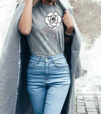 Color Splash Chanel Print Cotton T-shirt