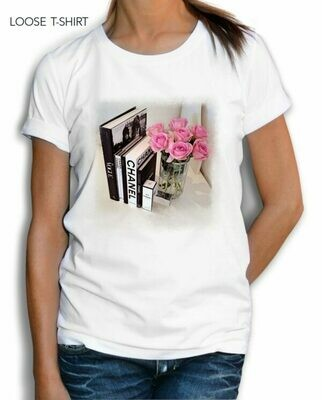 Chanel Books Print Cotton T-Shirt