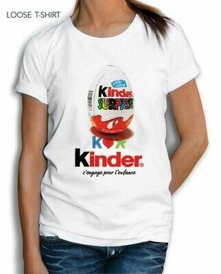 Chocolate Kinder Egg Surprise Cotton T-shirt