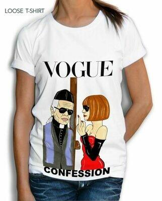 Vogue Middle Finger Confession Cotton T-shirt