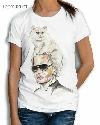Karl Who CC Print Cotton T-shirt