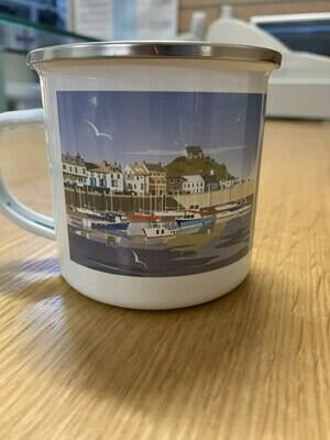 Ilfracombe print enamel mug