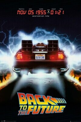 Back to the Future Dolorean Maxi Poster