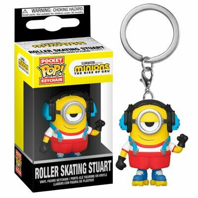 Pocket POP Keychain Minions 2 Roller Skating Stuart